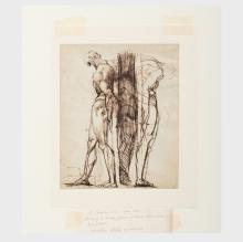 Johan Heinrich Füssli (1741-1825): Study of Two Male Nudes; and Study of a Greek Athlete