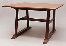 George Walton, Glasgow School: Set of Three English Oak Arts and Crafts Trestle Tables