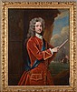 WILLIAM AIKMAN (1682-1731): PORTRAIT OF JOHN CAMPBELL, 2ND DUKE OF ARGYLL, IN RED COAT AND WEARING THE ORDER OF THE GARTER