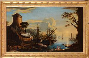 ATTRIBUTED TO GIOVANNI SIGNORINI (1808-1858): HARBOR VIEW