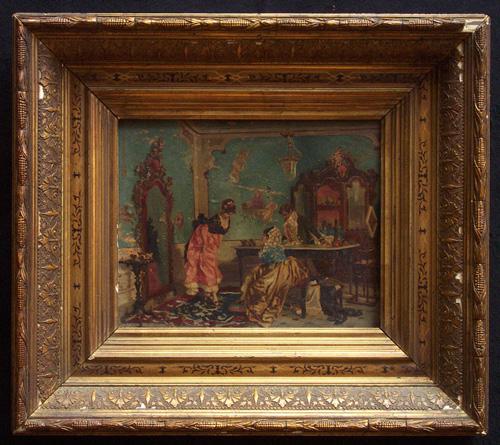 VICENTE PALMAROLI Y GONZALEZ (1834-1896), IN A SHOE SALON Oi