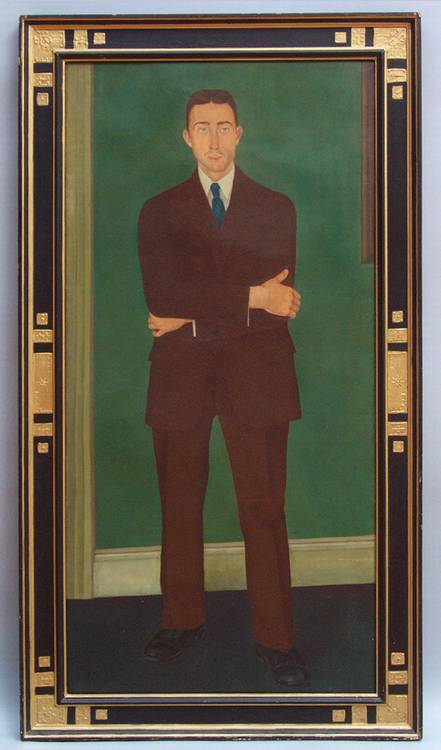 STEFAN HIRSCH (1899-1964), PORTRAIT OF JOHN ELY 1925 Oil on