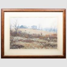 Aiden Lassell Ripley (1896-1969): Pheasants Near the Old Farm