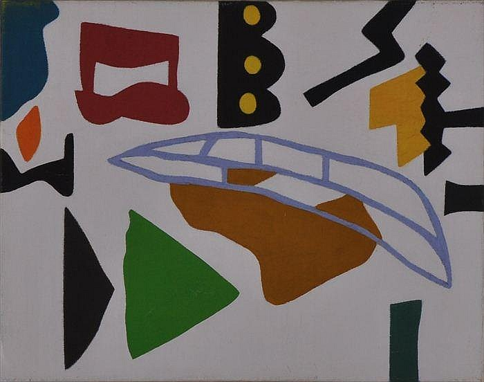 SHIRLEY JAFFE (b. 1923): ABSTRACT COMPOSITION
