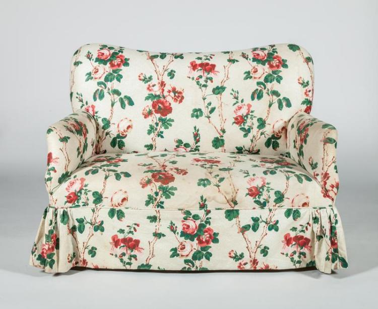 Chintz upholstered sofa for Chintz couch