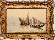 David Horatio Winder (1855-1933): Venetian Waterfront; and In the Waters Near Venice