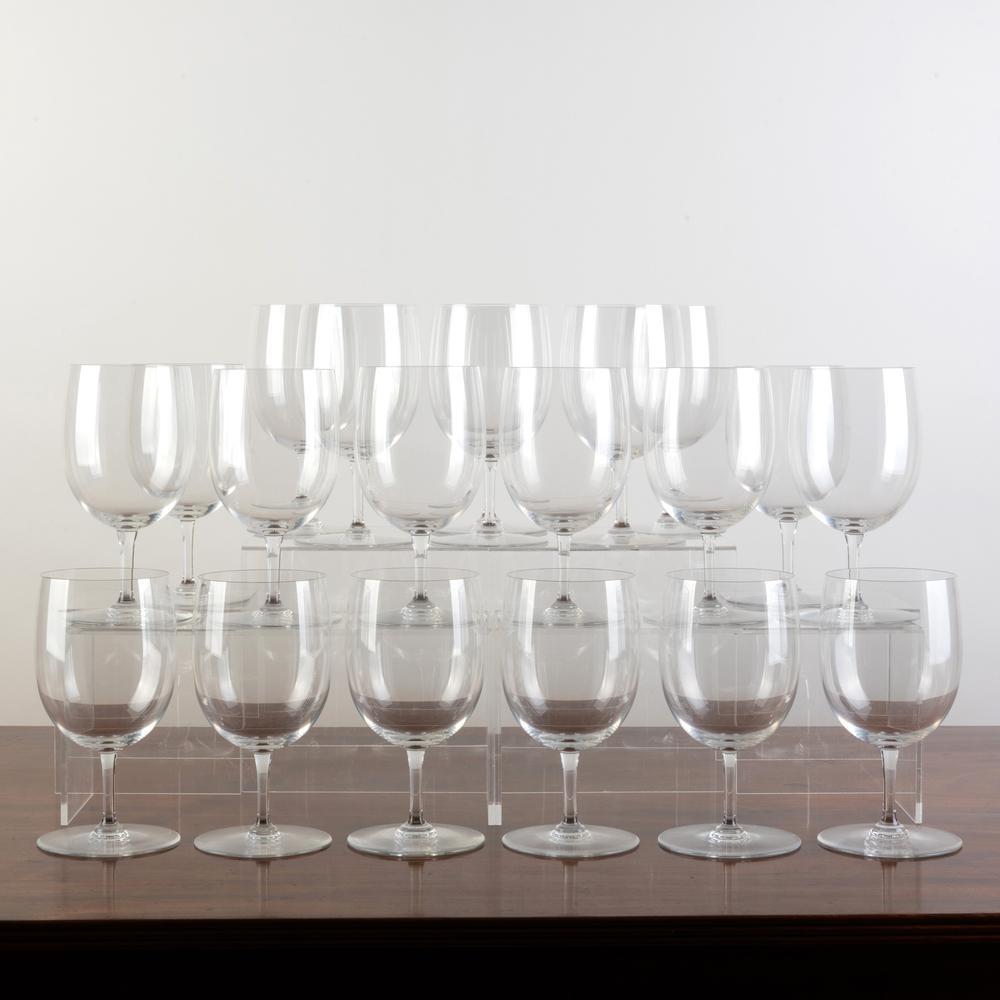 Set of Twenty Baccarat Hand Blown Red Wine Glasses