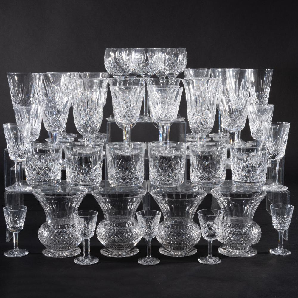 Waterford Part Stemware Service in the 'Lismore' Pattern