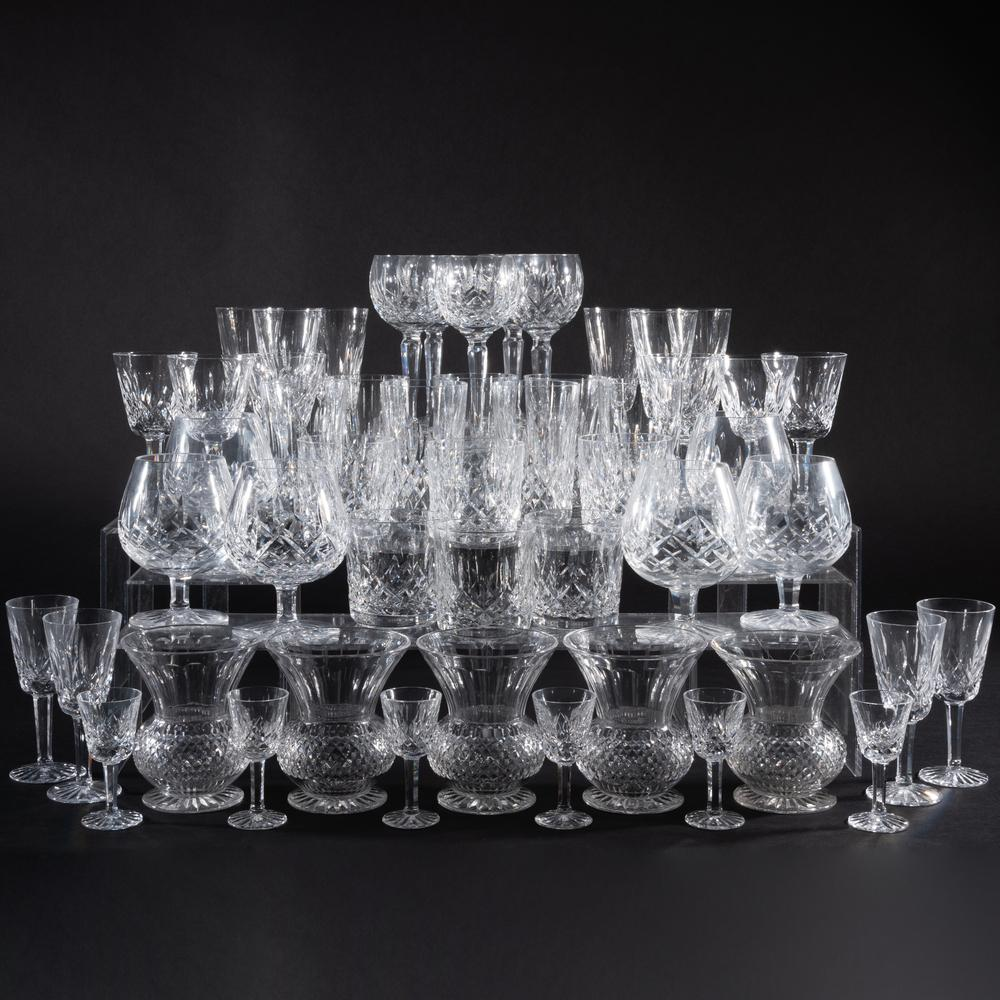 Waterford Cut Glass Part Stemware Service in the 'Lismore' Pattern
