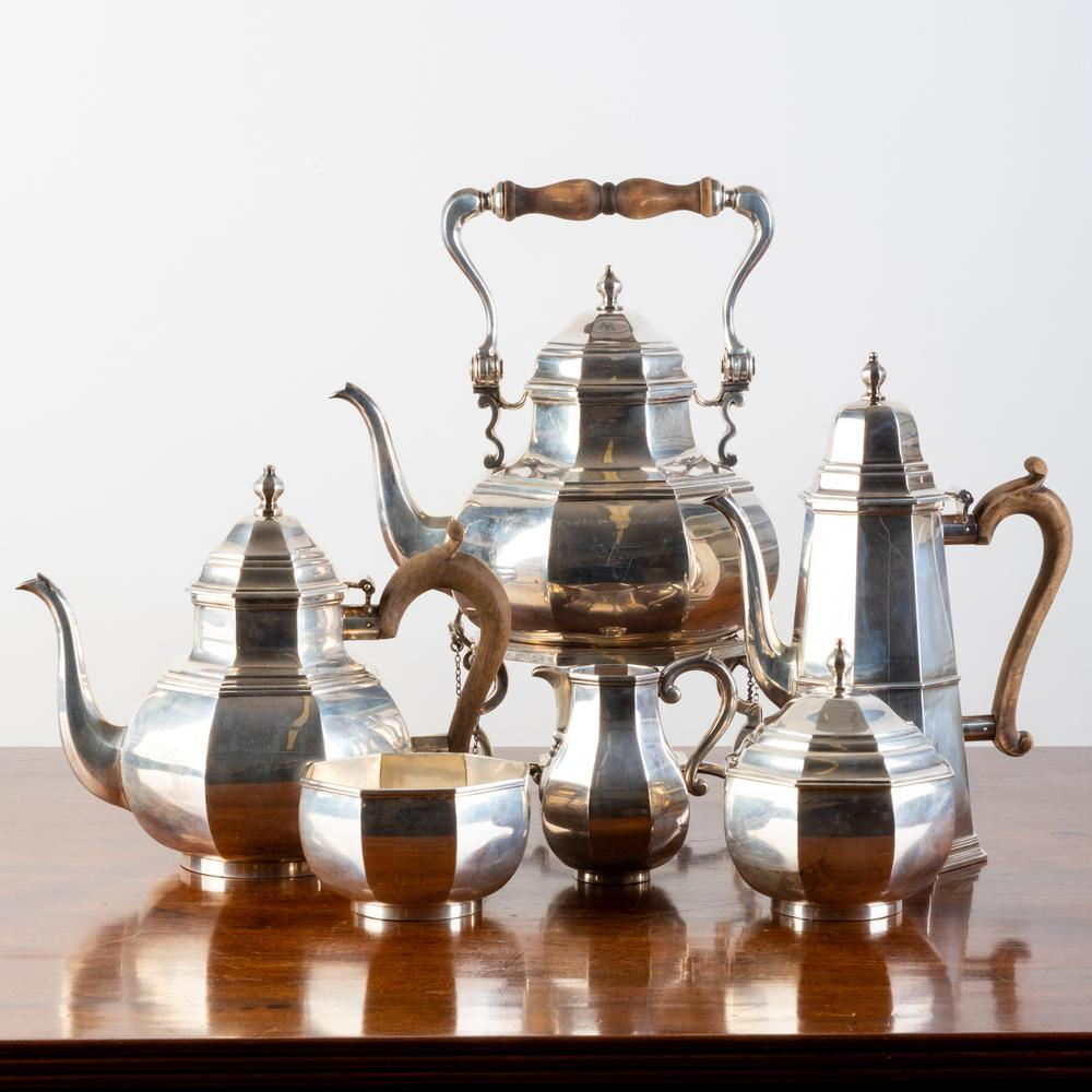 Assembled English Silver Five Piece Tea and Coffee Service