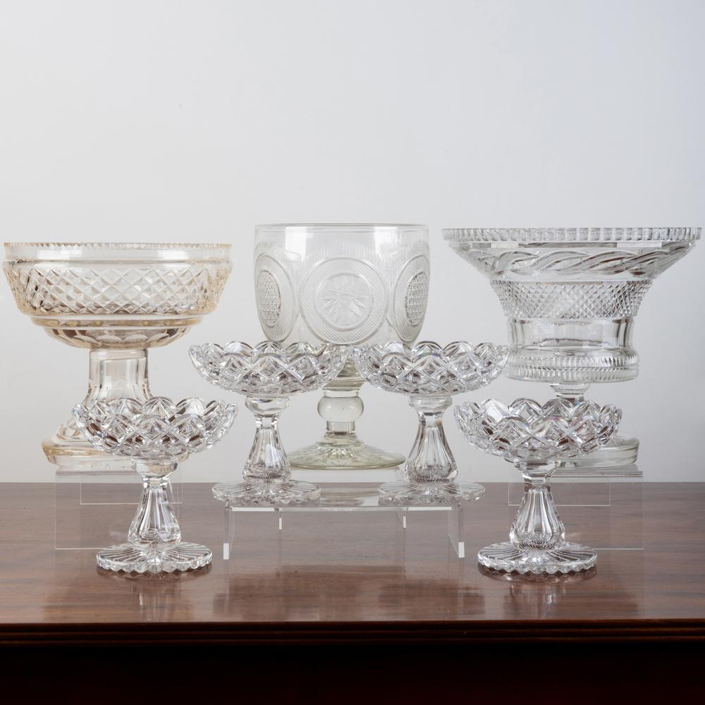 Group of Cut Glass Serving Wares