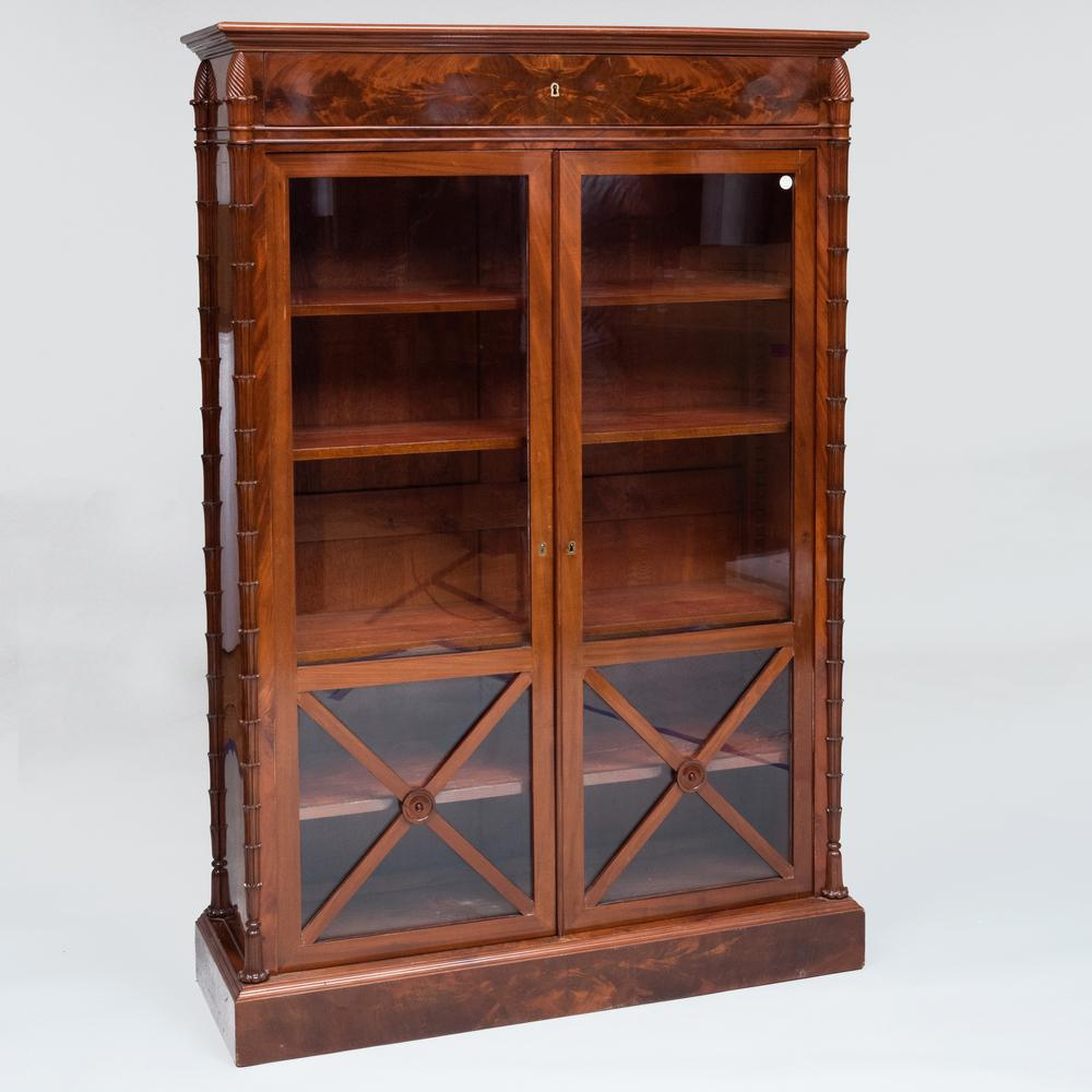 Charles X Mahogany Bibliothèque
