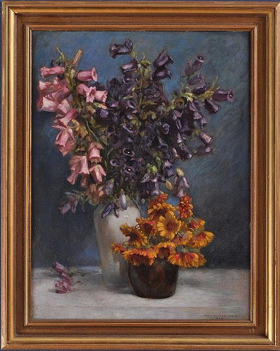 KARL VIKTOR MAYR (1882-1974): STILL LIFE WITH BLUEBELLS AND DAISIES