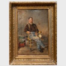 Louis Betts (1873-1961): Old Man in a Spring Rocker
