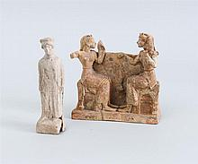 TWO ANCIENT TERRACOTTA FIGURES