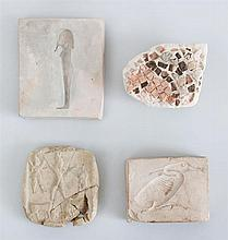 TWO EGYPTIAN POTTERY MOLDS