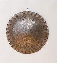 INDO-PERSIAN ENGRAVED STEEL CIRCULAR SHIELD