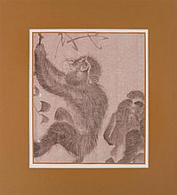 JAPANESE SCHOOL: A GROUP OF FIVE ANIMAL DRAWINGS