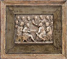 CONTINENTAL ALABASTER RELIEF CARVING OF THE LAST SUPPER