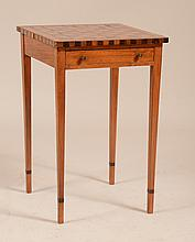 Louis XVI Provincial Mahogany and Walnut Parquetry Games Table