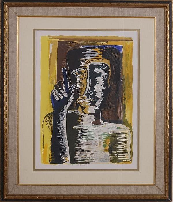 OSSIP ZADKINE (1890-1967): MAN WITH POINTING FINGER