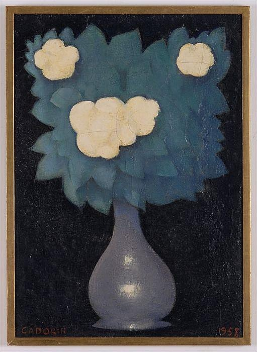 GUIDO CADORIN (1892-1976): STILL LIFE WITH WHITE FLOWER