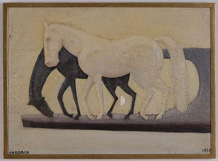 GUIDO CADORIN (1892-1976): TWO HORSES