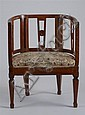 Italian Neoclassical Carved Mahogany Armchair