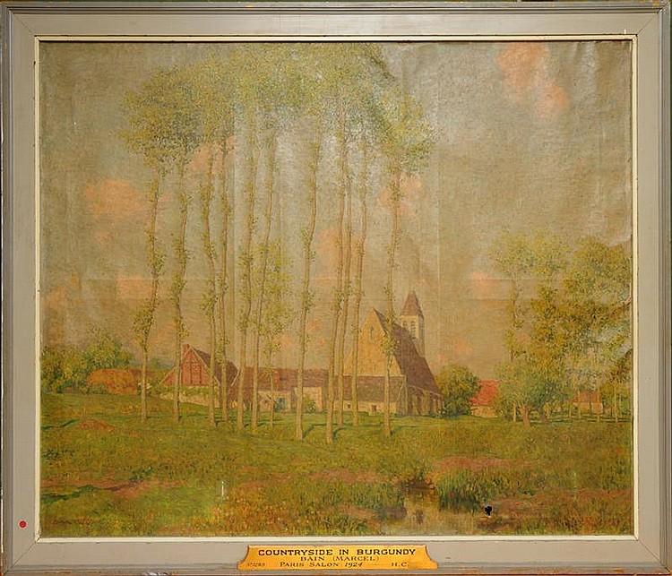 MARCEL BAIN (1878-1937): COUNTRYSIDE IN BURGUNDY