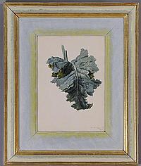 FRANZ X. GRUBER (AUSTRIAN, 1801-1862): RHUBARD LEAF
