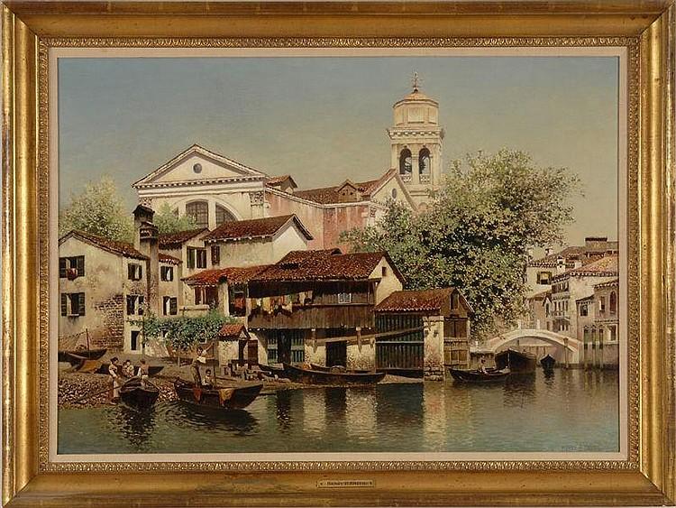HENRY PEMBER SMITH (1854-1907): VENETIAL CANAL SCENE