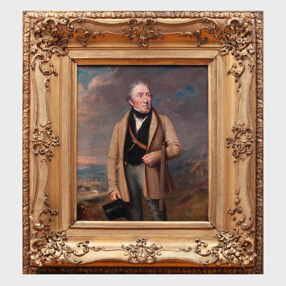 John Fleming (1792-1845): Portrait Esquire Galcarie Glasgow