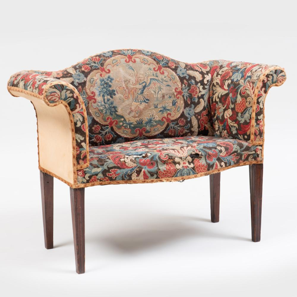 George III Mahogany Window Seat