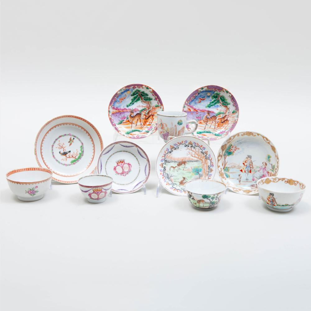 Group of Chinese Export Porcelain Tea Wares