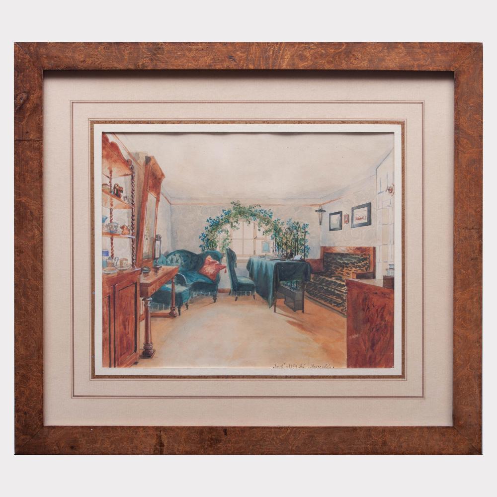 Russian School: A Sitting Room