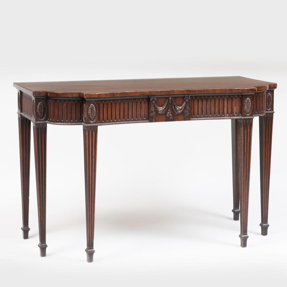 George III Style Carved Mahogany Console