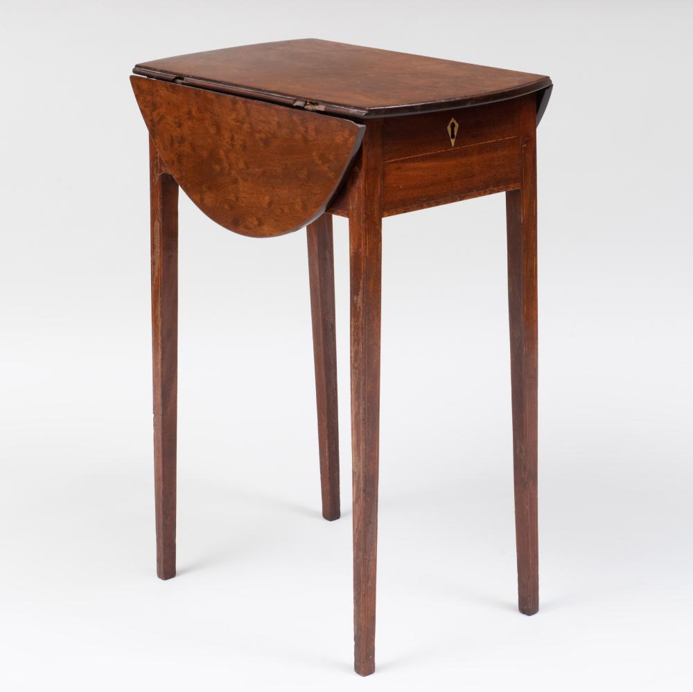 Small George III Inlaid Mahogany Pembroke Table