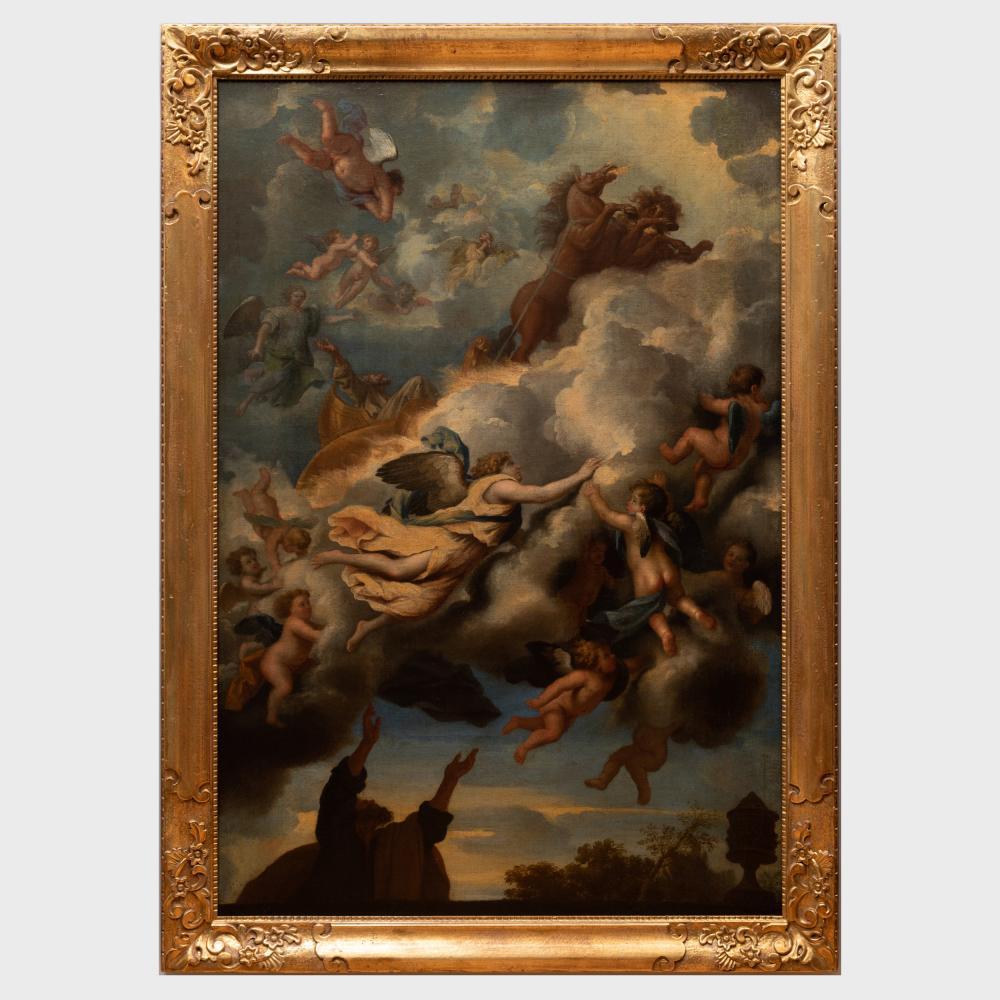 Italian School: Elijah Taken up in a Chariot of Fire