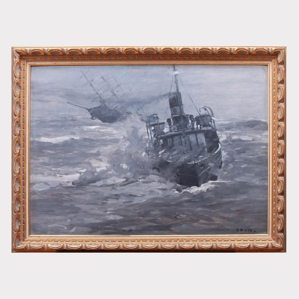 Frank Brangwyn (1867-1956): The Wreck of the Thracian