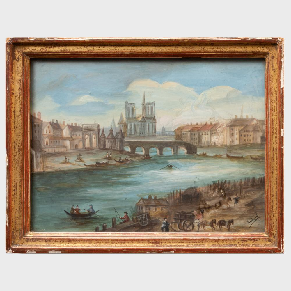 French School: The Seine, Notre Dame in the Background