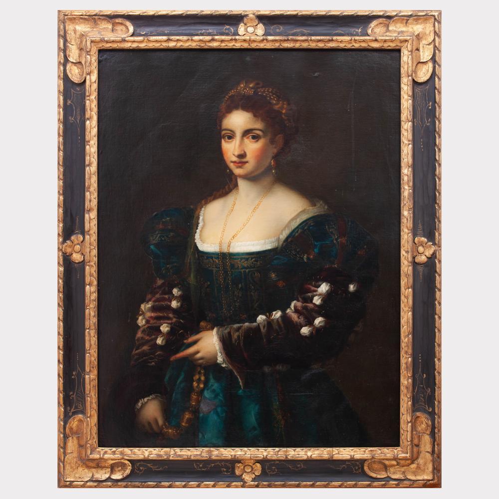After Titian (1485/89-1756): La Bella