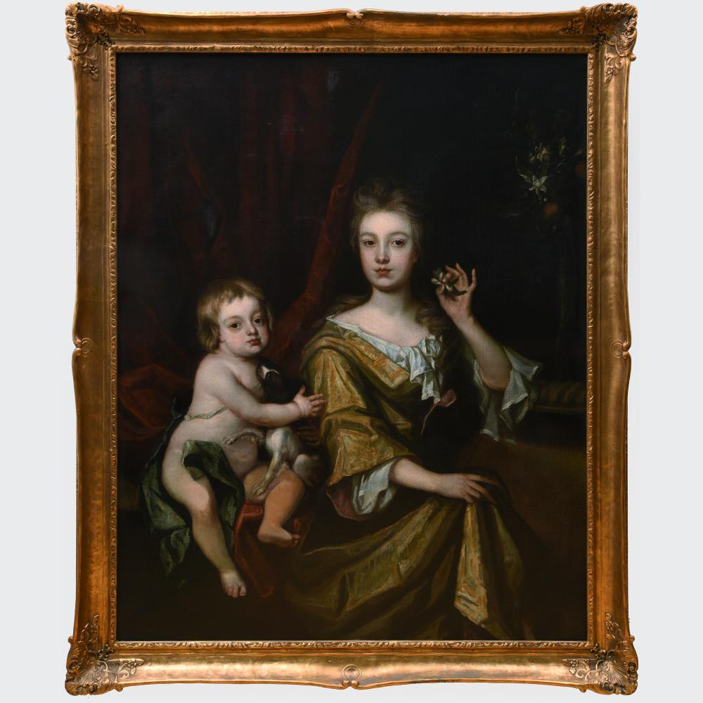 European School: Portrait of a Lady and Child