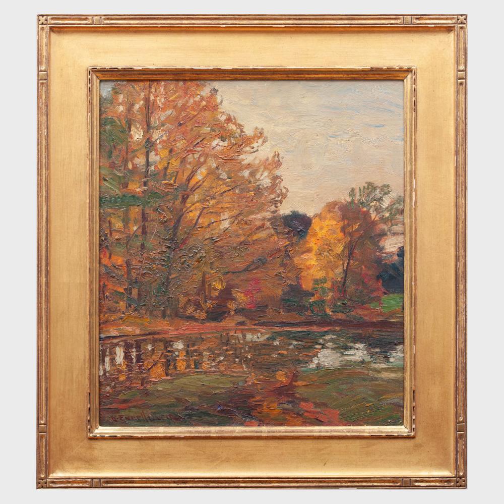 Robert Emmett Owen (1878-1957): Pond in Autumn