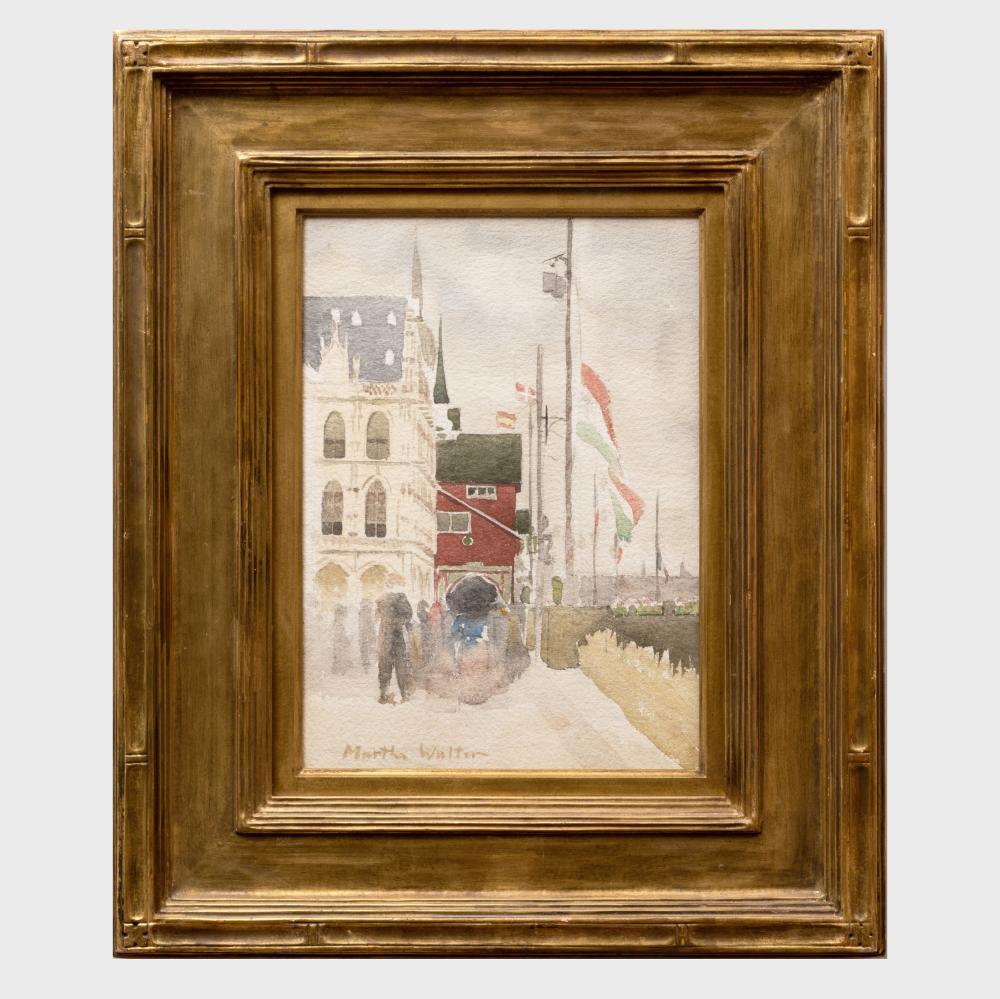 Martha Walter (1875-1976): Street Scene