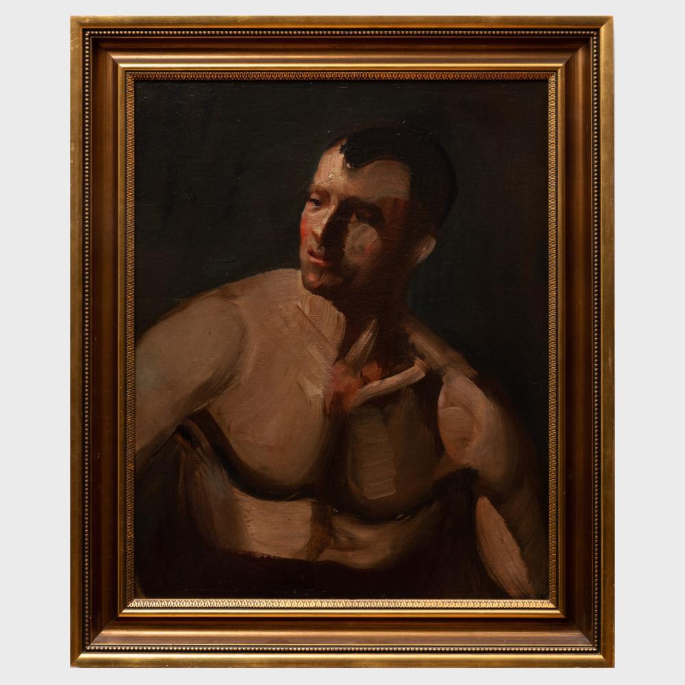Attributed to George Benjamin Luks (1867-1933): The Wrestler