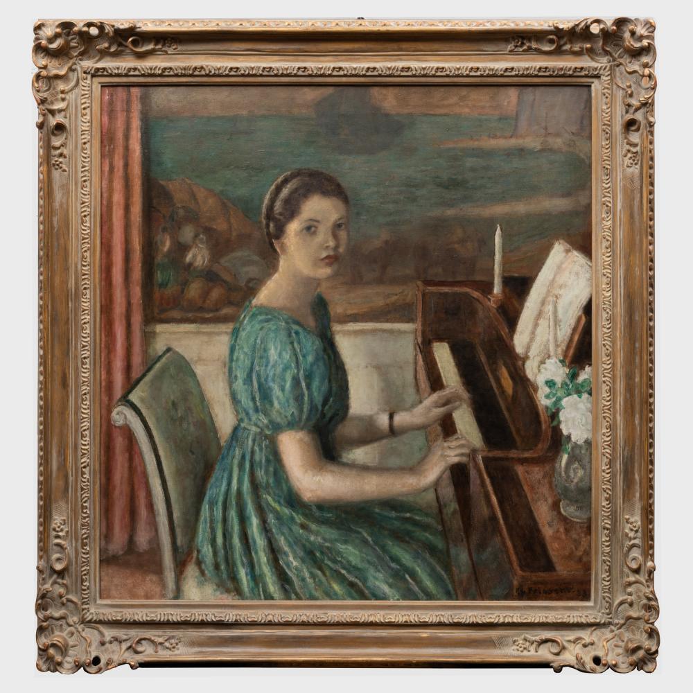 Frederick Carl Frieseke (1874-1939): At the Piano