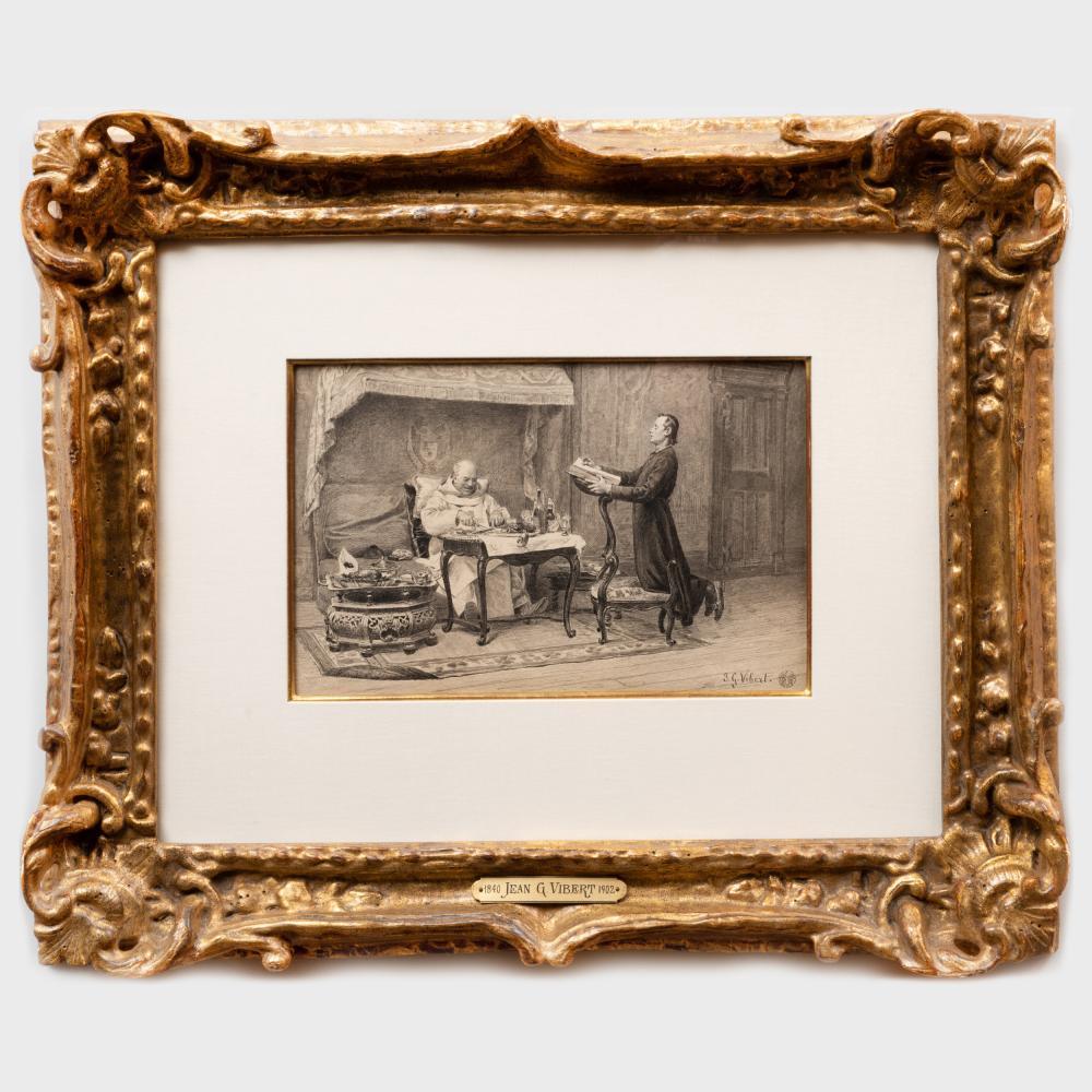Jean Georges Vibert (1840-1902): The Cardinal's Dinner