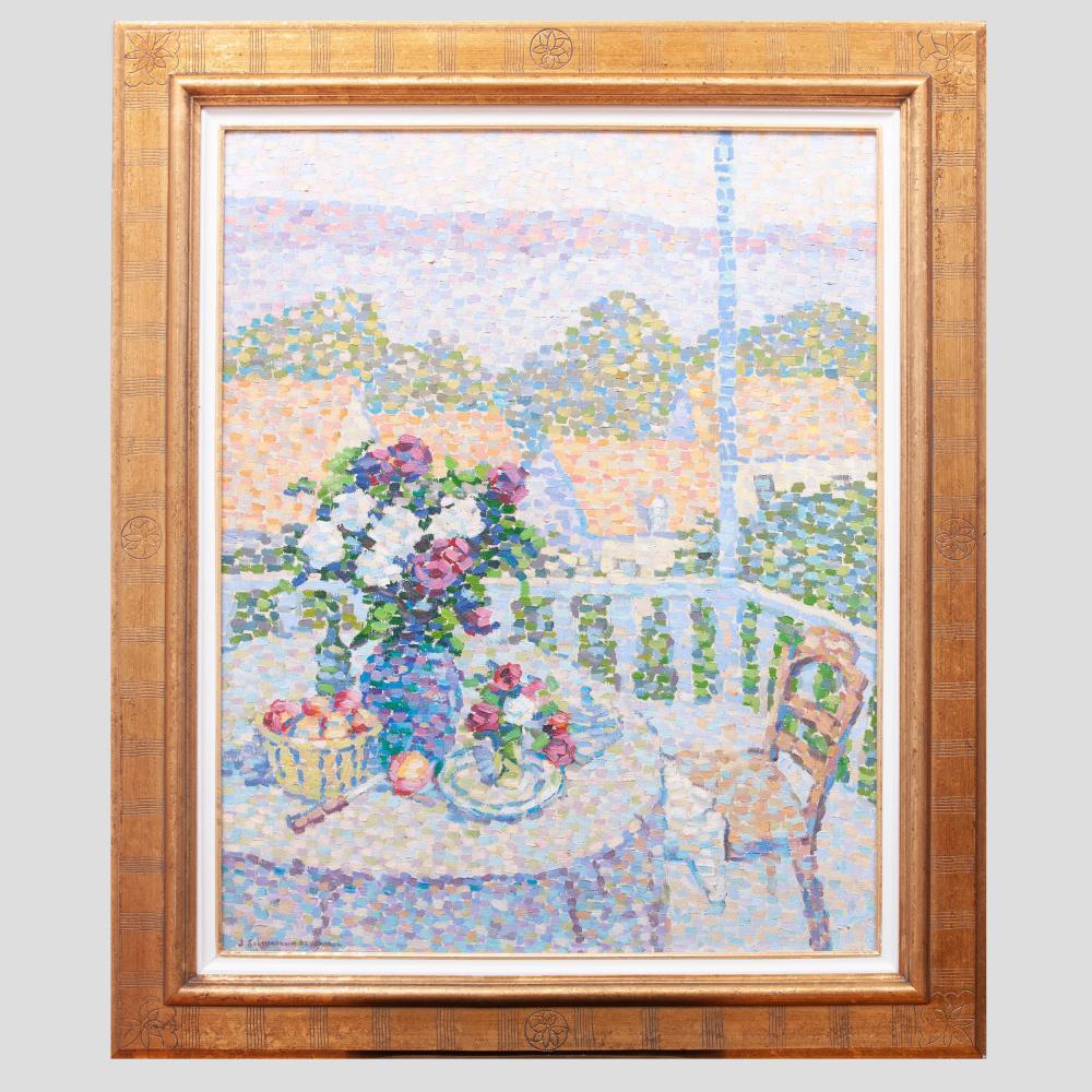 Jeanne Selmersheim-Desgranges (1877-1958): La Table Fleurie sur la Terrasse