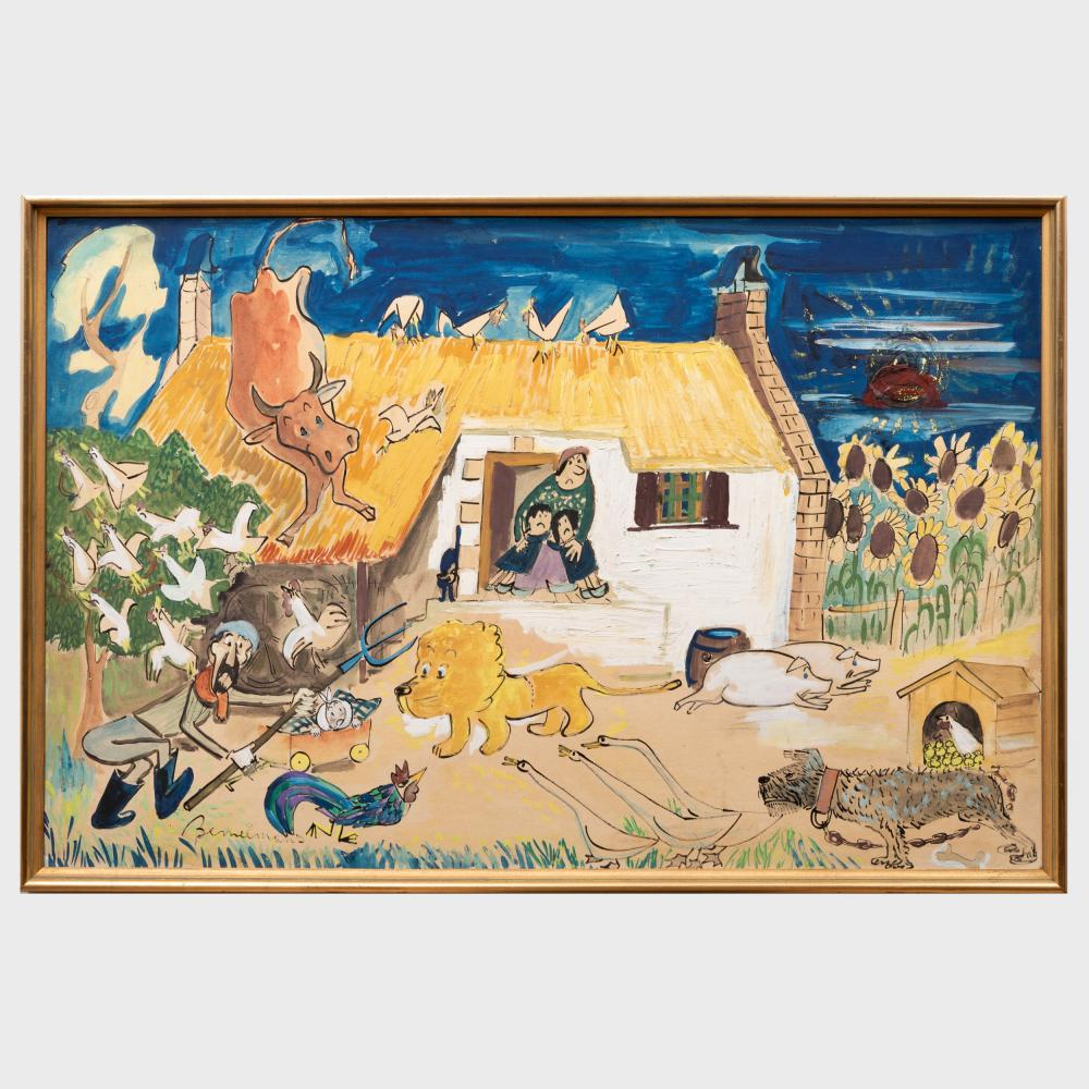 Ludwig Bemelmans (1898-1962): The Lion in the Farm