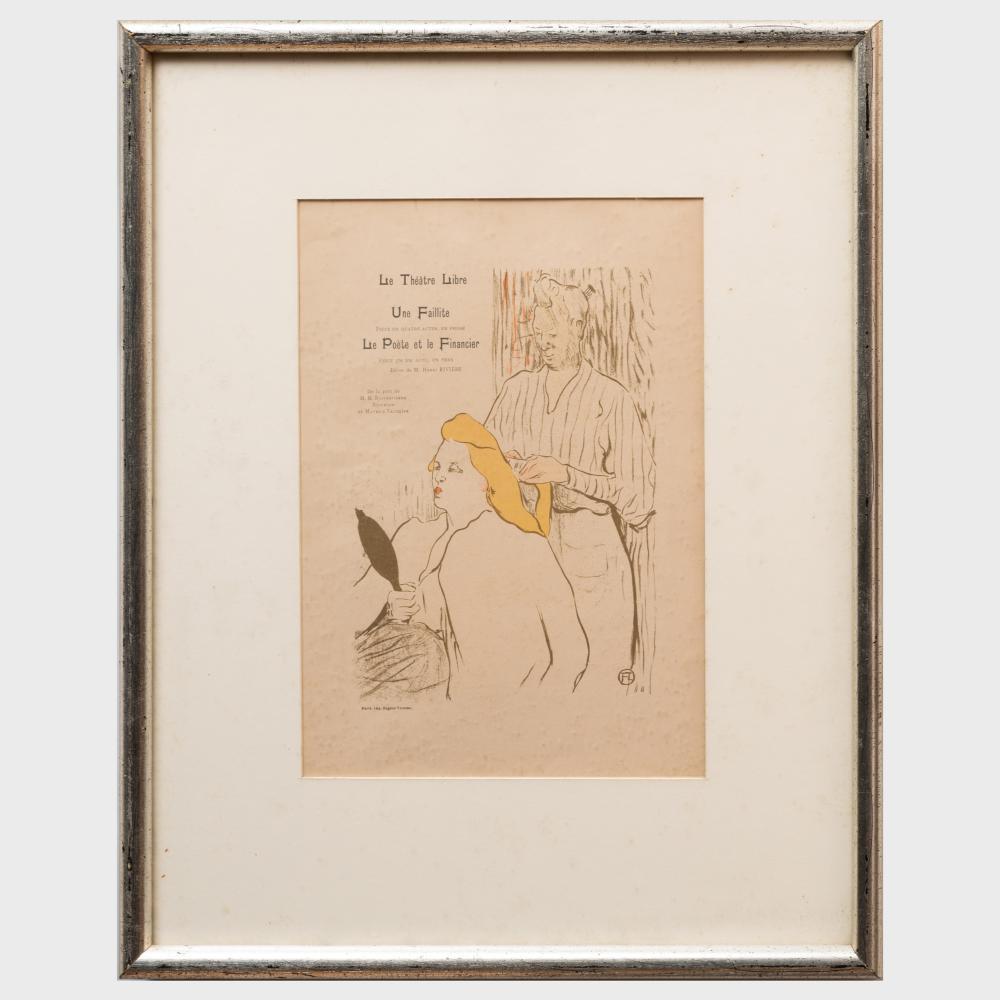Henri de Toulouse-Lautrec (1864 - 1901): La Coiffeuse, for Le Théatre Libre